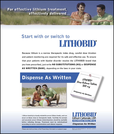 Start with or switch to Lithobid